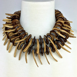 Pergola Perfection Necklace-Necklaces-Jared Jamin Online-Brown / Silver-JARED JAMIN