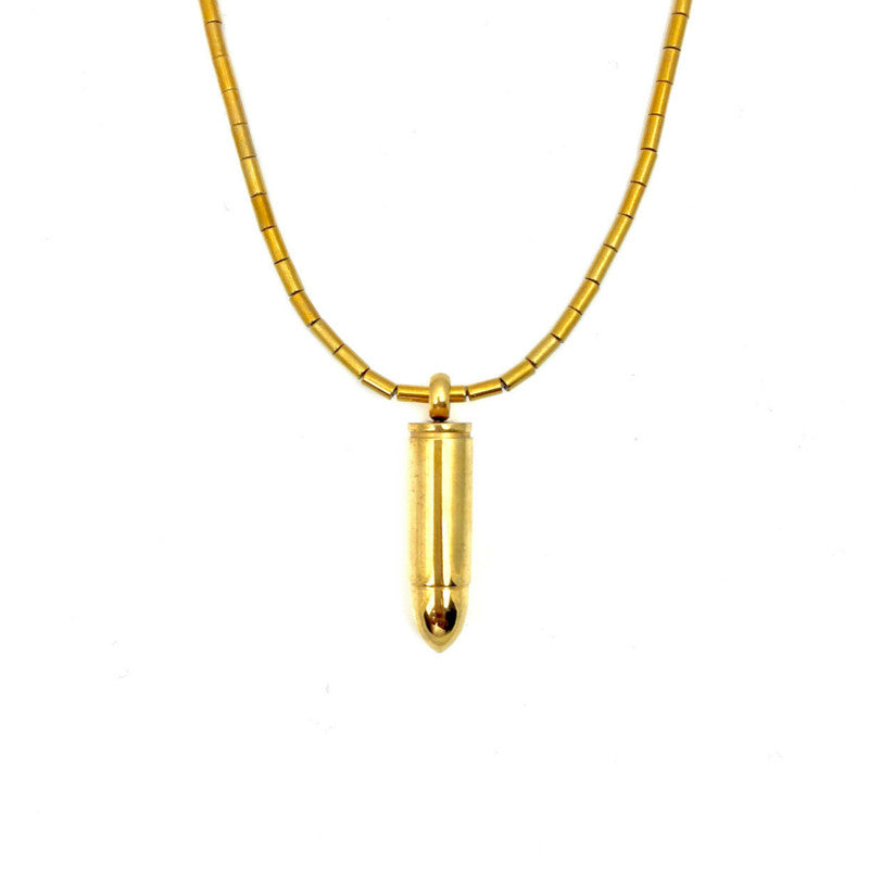 Scaramanga Bullet Necklace, Necklaces, JARED JAMIN