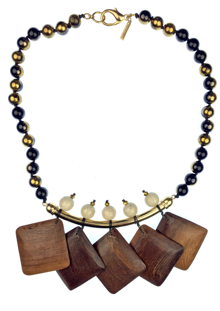 Necklaces - Jared Jamin  - Jared Jamin Online - Wood Chime Onyx Necklace -  - 1