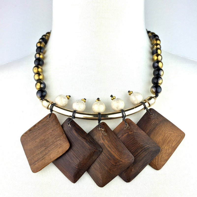 Necklaces - Jared Jamin  - Jared Jamin Online - Wood Chime Onyx Necklace -  - 2
