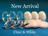 Acrylic Pads White & Clear (Mix or Match 10)