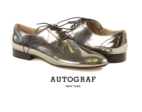 Womens Silver Oxfords