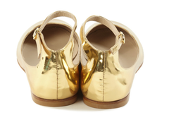 Ballerina Flats, Gold Flat Shoes at Autograf New York