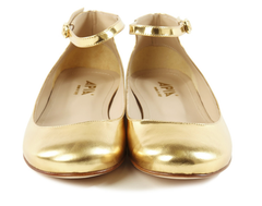 Gold Mary Janes Shoes Autograf New York