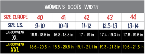Extended Calf Boots Width Chart,  Autograf New York, Women's Large Size Boots 9-13