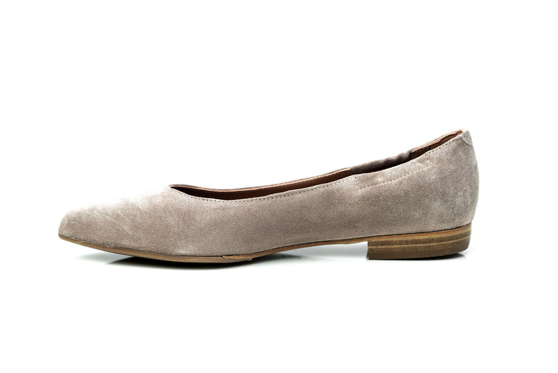 JANE - Nude pointed toe flats shoes Handmade in Spain