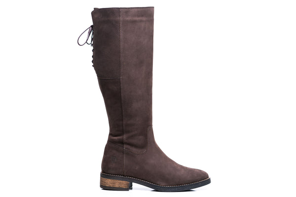 SAVANNA XXL - Extra Wide Calf Boots in Brown Nubuck