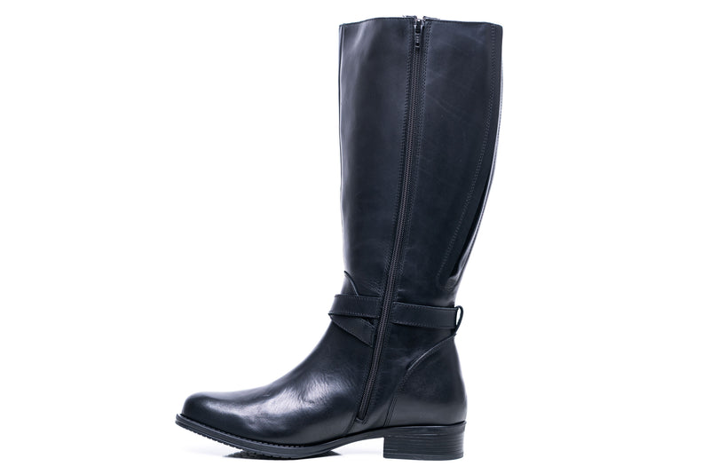 womens wide calf boots, 19 inch circumference, 20, 22, 21 in, super wide, large calf, fat legs, extended width, plus size, 13, 14, 12, 11, 10, black leather, tall, inside view
