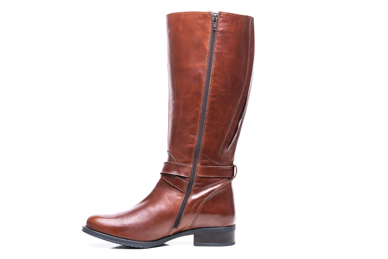 womens wide calf boots, 19 inch circumference, 20, 22, 21 in, super wide, large calf, fat legs, extended width, plus size, 13, 14, 12, 11, 10, brown tall genuine leather boots, inside view