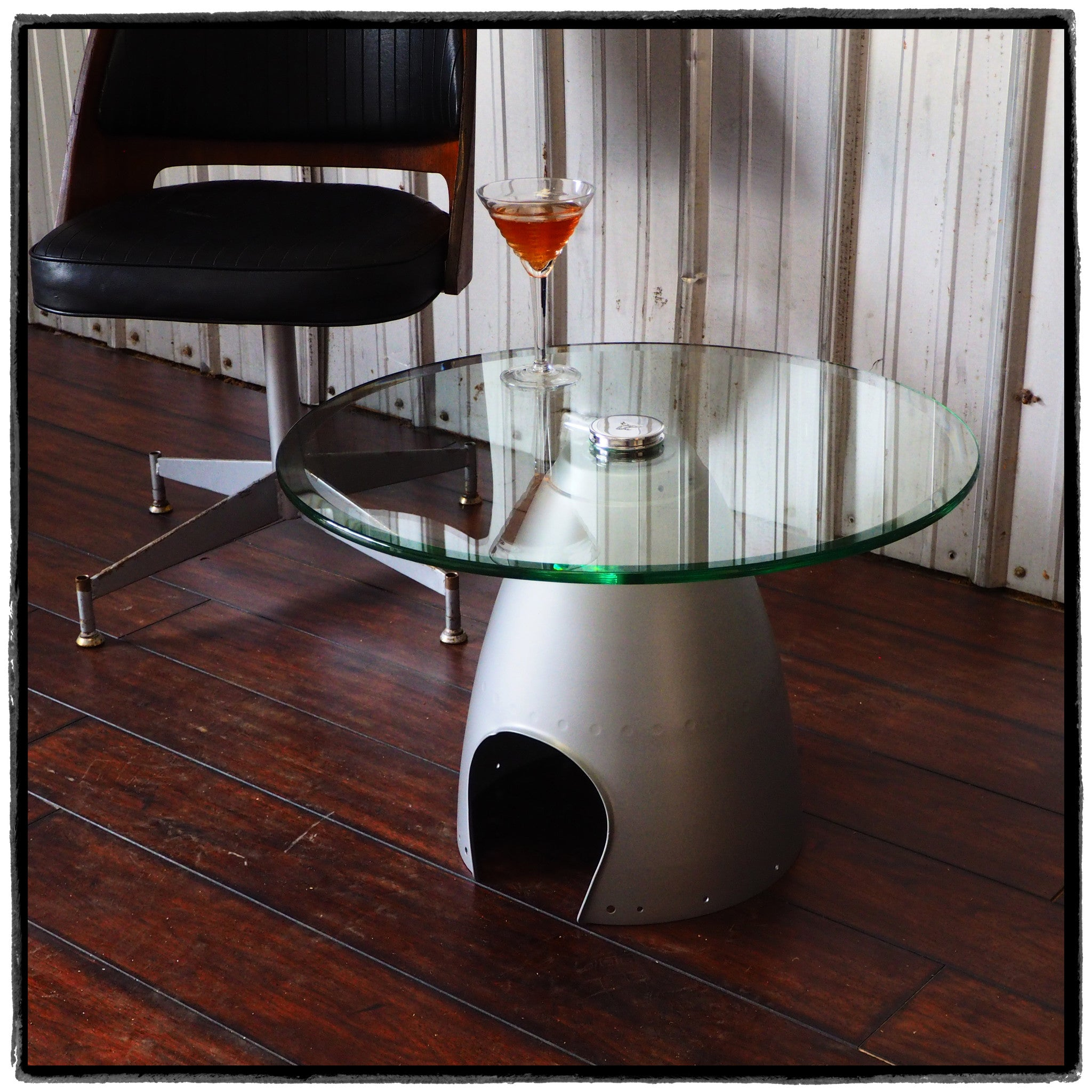Space Age Eames Era Airplane Spinner Cone Coffee TableAviation