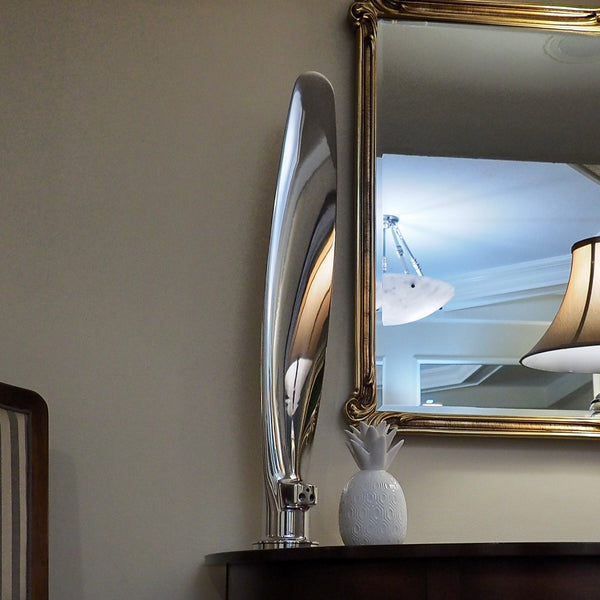 The Piggy High Polished Airplane Propeller Blade Display