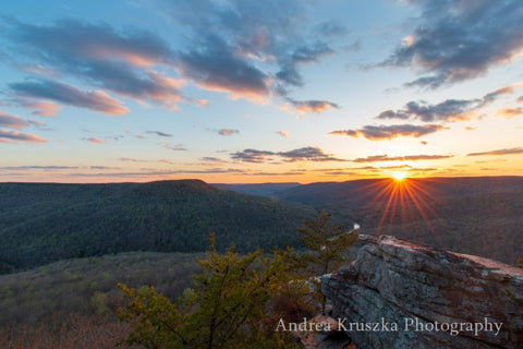 Sunset at Welch Point in Sparta, Tennessee