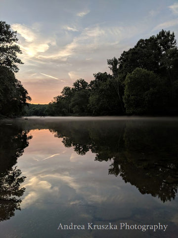 Caney Fork River in Lancaster Tennessee at sunset