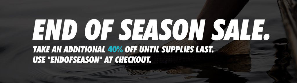 End of Season Sale all items 40% OFF