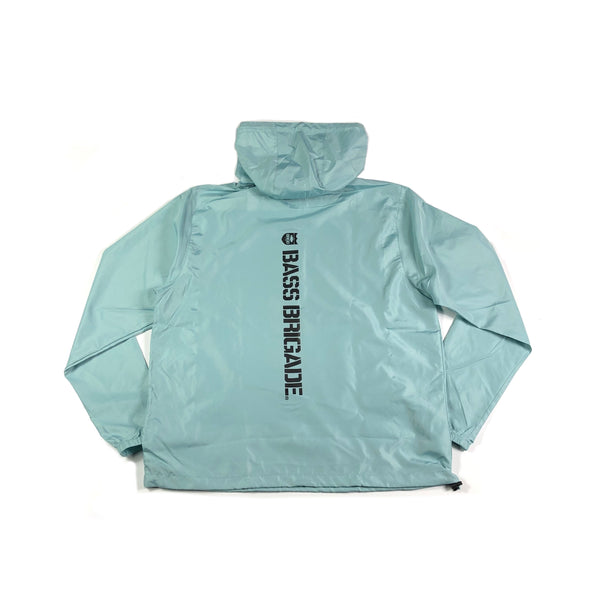 Bass Brigade Light Weight Windbreaker Pullover - Aqua