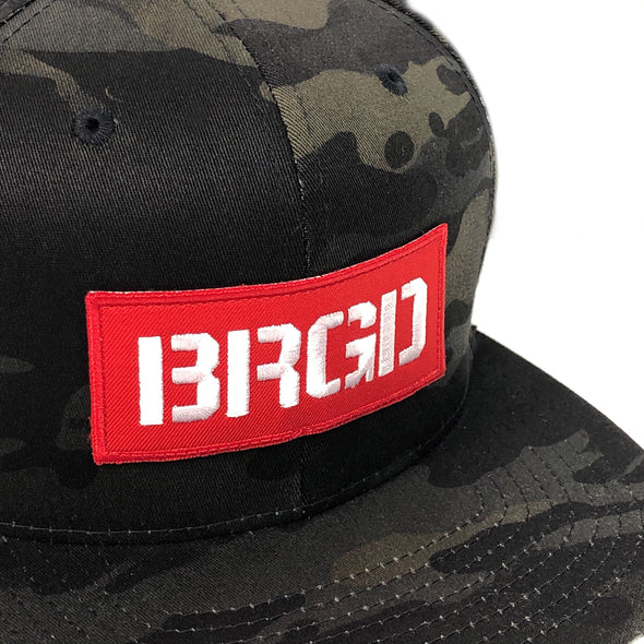 BRGD Patch Snapback Hat - Dark Camo