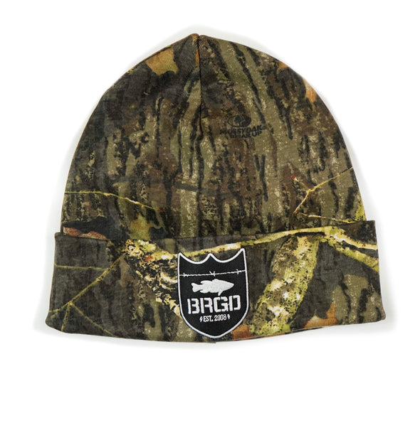 Shield Logo Mossy Oak Knit Beanie - Mossy Oak BreakUp