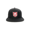 Bass Brigade Shield Logo Snapback Hat - Black/Red