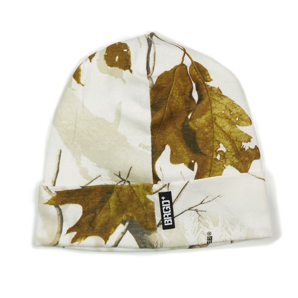 Shield Logo Realtree Knit Beanie - White All Purpose