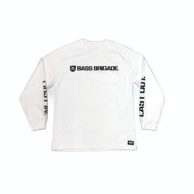 SHIELD WORDMARK TEE LONG SLEEVE - WHITE / BLACK