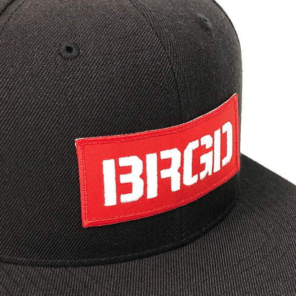 BRGD Patch Snapback Hat - Black