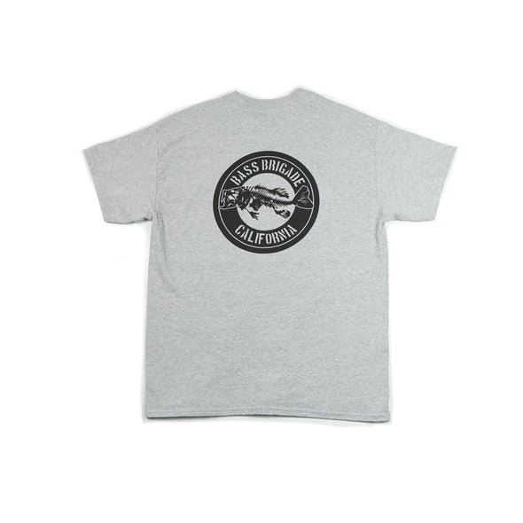 California Bass Short Sleeve T-Shirt - Heather Grey