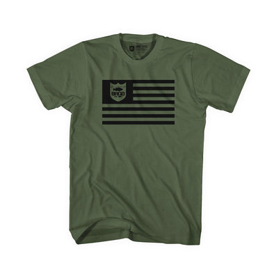 Bass Brigade BRGD Flag Tee -Olive