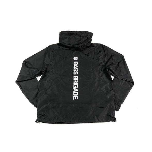 Bass Brigade Light Weight Windbreaker Pullover - Black