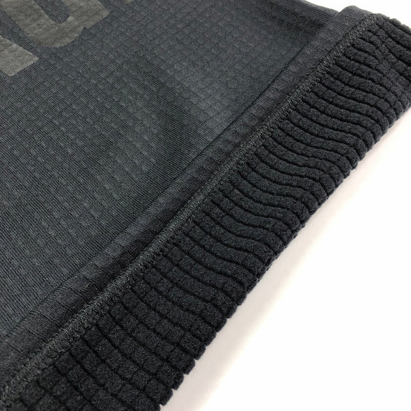 Grid Fleece Neck Gaiter - Black/Black