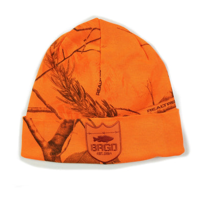 Shield Logo Realtree Knit Beanie - Blaze
