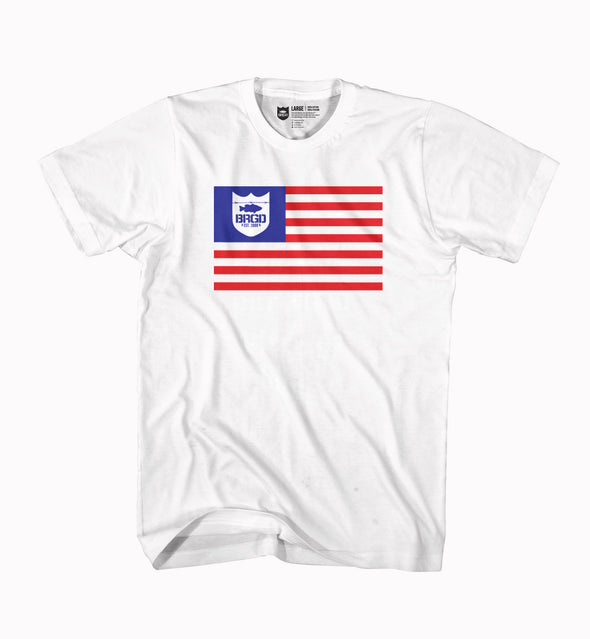 Bass Brigade BRGD Flag Tee - White