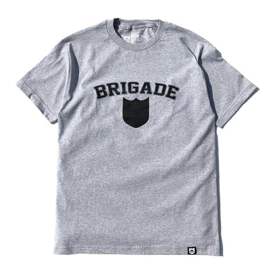 Bold Shield Tee - Heather Grey
