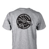 BASS BRIGADE SKULL HAND TEE - GRAPHITE HEATHER
