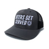 Biters Get Served Trucker Hat - Charcoal Trucker