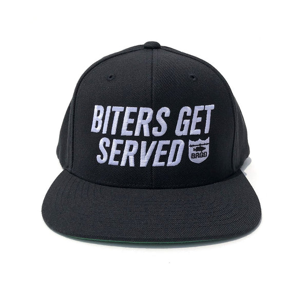Biters Get Served Snapback Hat - Black