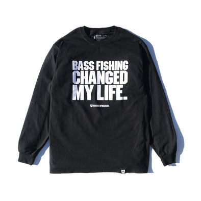 MY LIFE LS TEE - BLACK