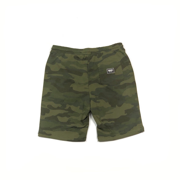 SHIELD SWEAT SHORTS - FOREST CAMO