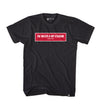 BOX TWIMS RED TEE - BLACK