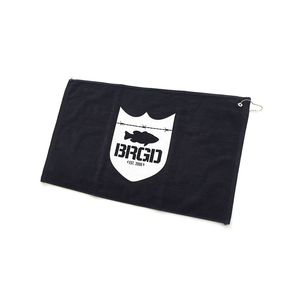 Bass Brigade Shield Logo Towel w/ Grommet - Black