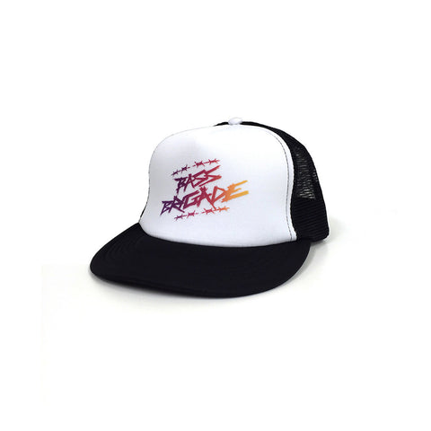 Wired Gradient Foam Trucker Hat - White/Black