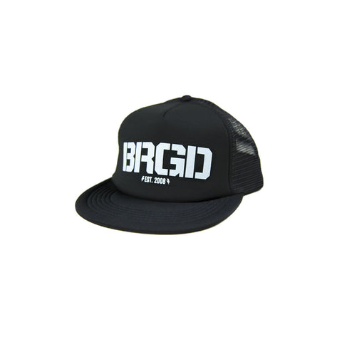 BRGD Logo Foam Trucker Hat - Black/White
