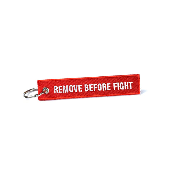 Bass Brigade Fight Tag Key Chain - Red