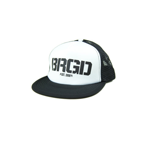 BRGD Logo Foam Trucker Hat - White/Black