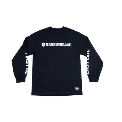 SHIELD WORDMARK TEE LONG SLEEVE - BLACK / WHITE