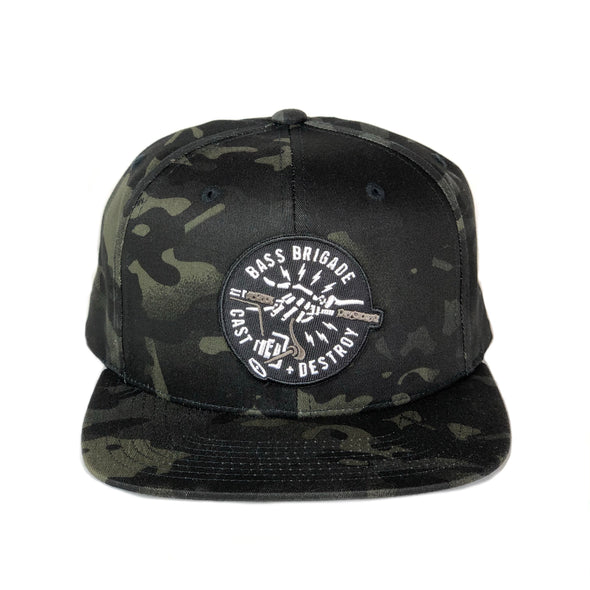 BB Skull Hand Hat - Dark Camo