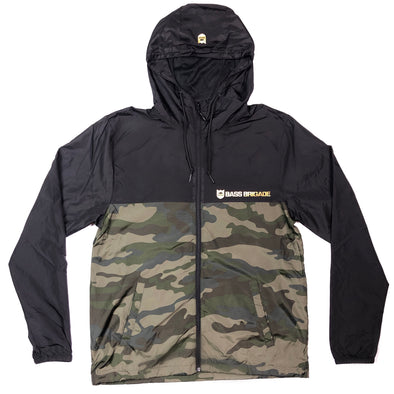 Bass Brigade Camo/Black Windbreaker Zip Jacket