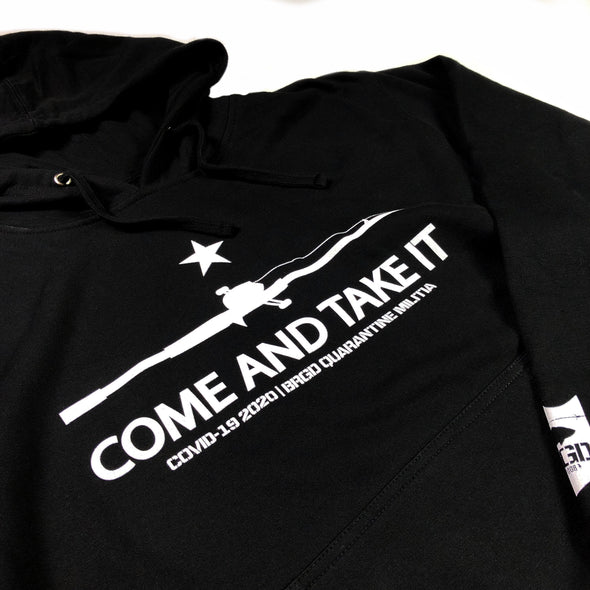 COME AND TAKE IT PULLOVER HOODIE - BLACK