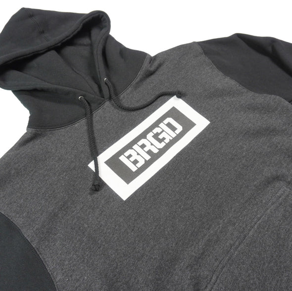 BRGD BOX PULLOVER HOODIE - CHARCOAL / BLACK