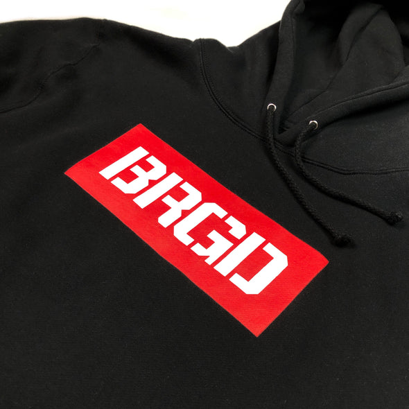 BOXED BRGD PULLOVER HOODIE - BLACK / RED