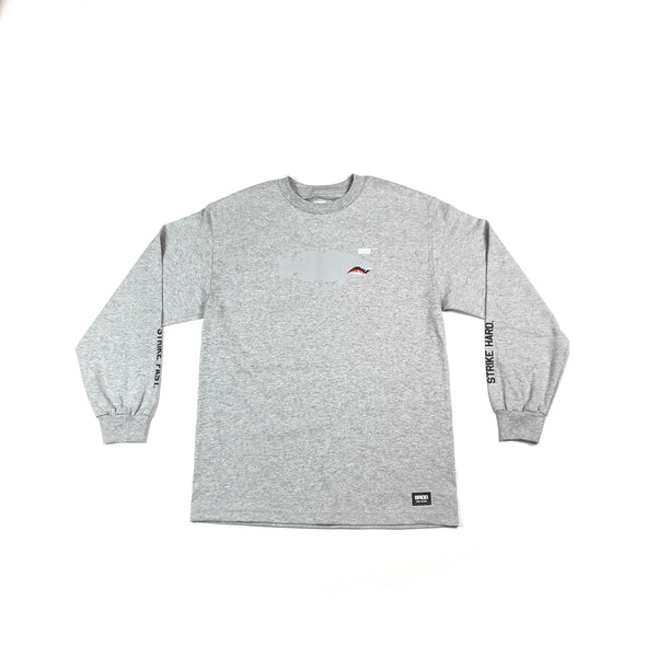 FIGHTER LUNKER L/S TEE  - ATHLETIC HEATHER